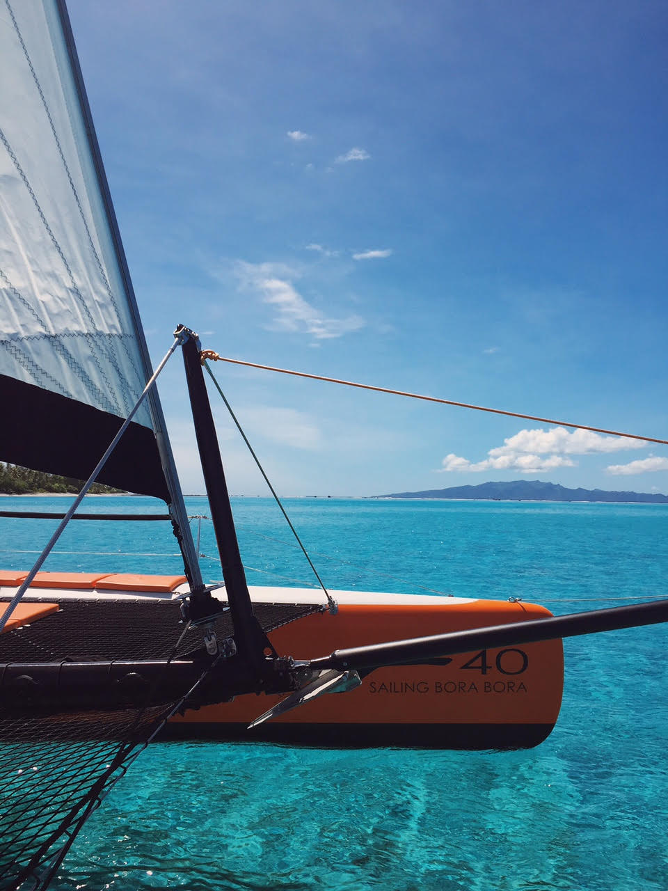 I was on this boat in Bora Bora. Life's adventures. It's the best.