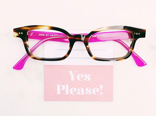 Anne et Valentine glasses always have good manners.
