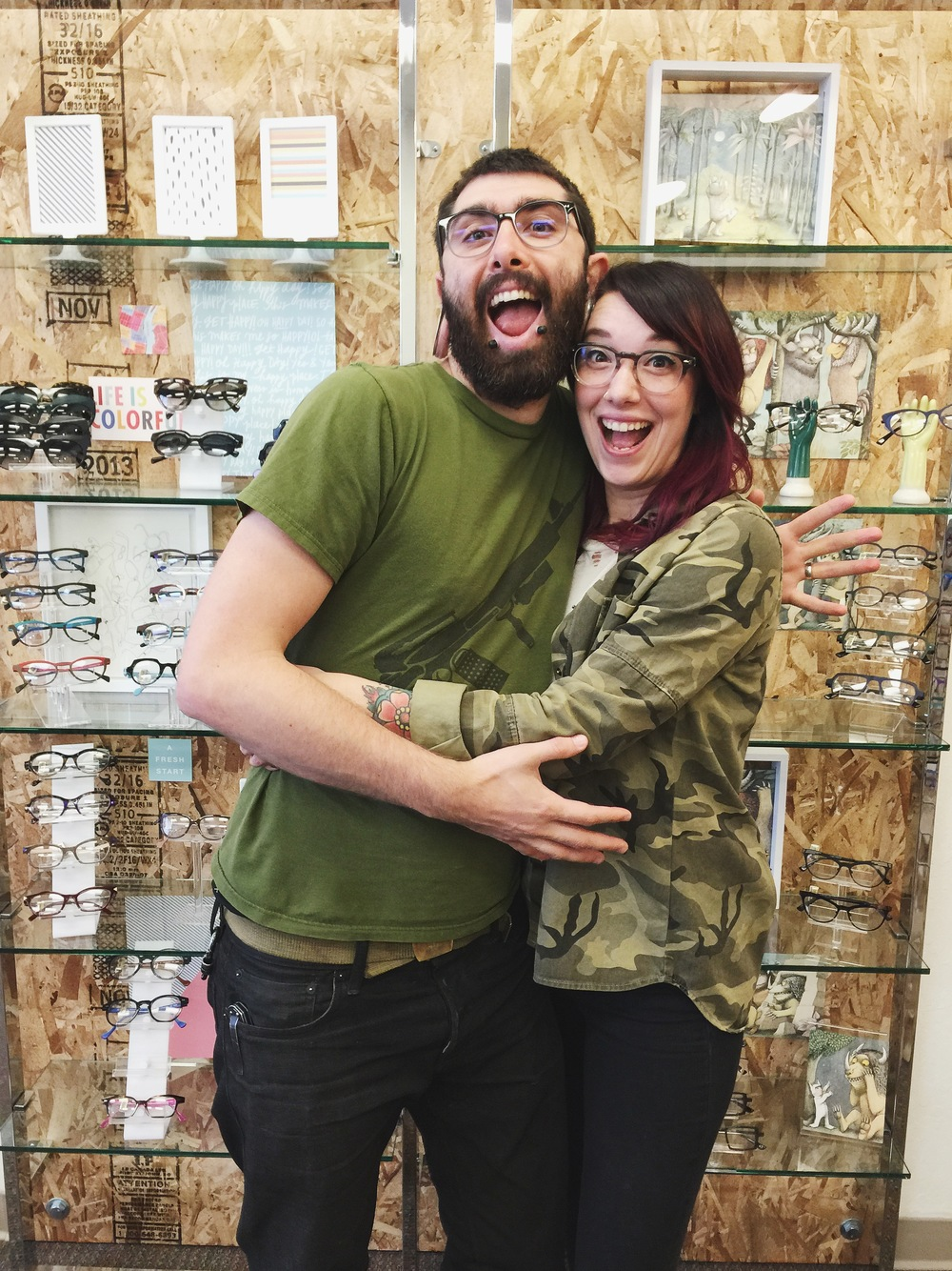 These glasses have officially tied the knot. Congratulations you two lovebirds!! ?♡? Oliver Peoples + Oliver Peoples.