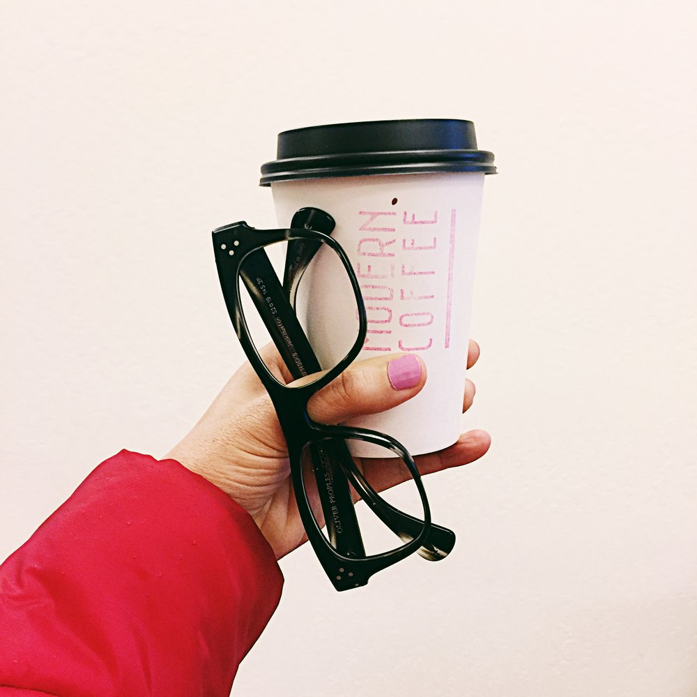 When your glasses make coffee taste better. Introducing Oliver Peoples:)