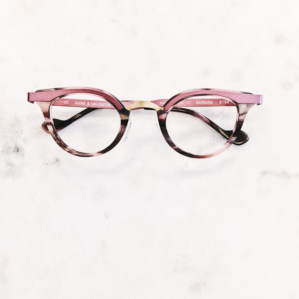 Roses are red. Violets are blue. My rad glasses are better. Glasses by Anne et Valentin.