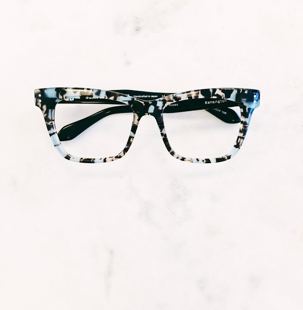 Glasses fitting tip: When it comes to glasses, wear a camouflage print to STAND out - not hide. Rad glassses by Born In Brooklyn Eyewear.
